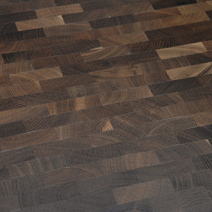 End Grain Parquet Smoked Oak Eng. pattern
