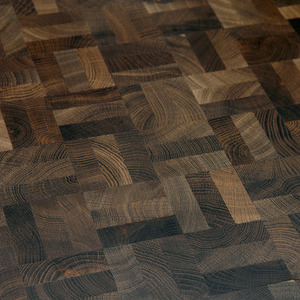 End Grain Parquet Smoked Oak squares