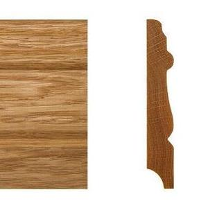 Solid skirting oak 16x100mm profile 2