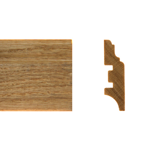 Solid skirting oak 16x55mm profile 6