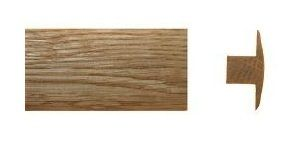 Skirting T-profile oak 20x42