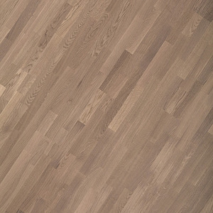 Parquet Oak 3-strip white mat lacquered