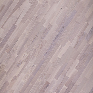 Parquet Ash 3-strip white mat lacquered