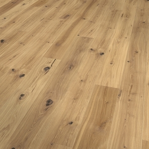 Parquet oak, Alpin, bevelled (4V), scraped, oiled finish