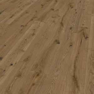 Parquet oak Caramel, Alpin, bevelled (4V), scraped, thermal treated, oiled finish