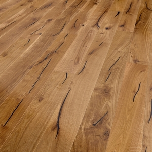 Parquet oak, Valley, bevelled (4V), structured, oiled finish