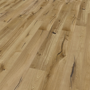 Parquet oak, Valley, bevelled (4V), sawn, oiled finish