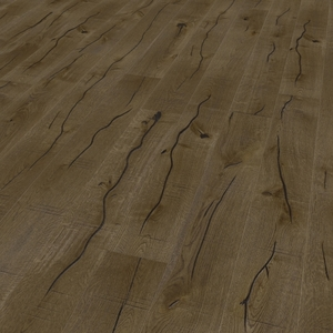 Parquet oak sepia, Valley, bevelled (4V), sawn, oiled finish