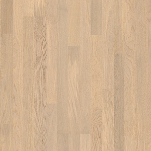 Parquet Polar oak matt, no groove, 3-strip, lacquered