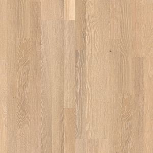 Parquet Whitewashed oak matt, no groove, 3-strip, lacquered