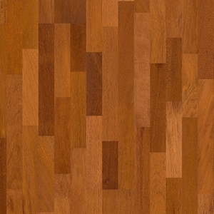 Parquet Merbau satin, no groove, 3-strip, lacquered