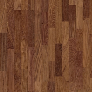 Parquet Walnut satin, no groove, 3-strip, lacquered