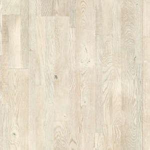 Parquet Painted white oak, no groove, multi-strip, oiled