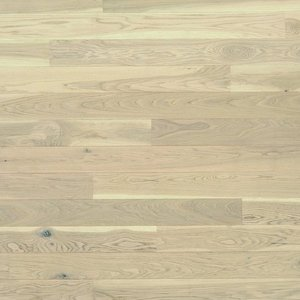 Parquet Tarkett, Shade, Oak Antique White Plank XT, 1-strip, 2 sides bevelled, brushed, Proteco Natura mat lacquer