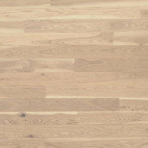 Parquet Tarkett, Shade, Oak Antique White Plank, 1-strip, 2 sides bevelled, brushed, Proteco Natura mat lacquer
