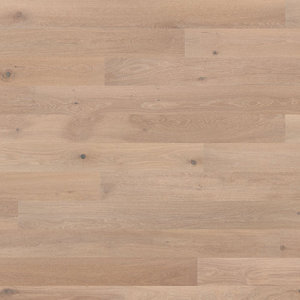 Parquet Tarkett, Shade, Oak Satin White Plank, 1-strip, 2 sides bevelled, Proteco Hardwax
