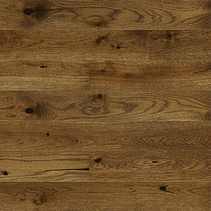 Parquet Oak, Piccolo Nugat, 1-strip, beveled, stained, matt lacquer