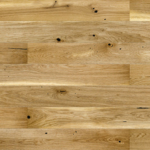 Parquet Oak, Grande Raisins, 1-strip, beveled, brushed, matt lacquer