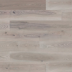 Parquet Ash, Grande Platinium, 1-strip, beveled, brushed, stained, matt lacquer