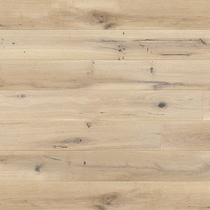 Parquet Oak, Grande Ivory, 1-strip, beveled, brushed, stained, natural oil