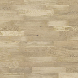 Parquet Oak, Molti Bianco, 3-strip, stained, matt lacquer