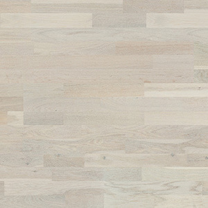 Parquet Oak, Molti Alabaster, 3-strip, brushed, stained, matt lacquer