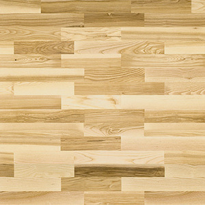 Parquet Ash, Molti Saimaa, 3-strip, stained, lacquer