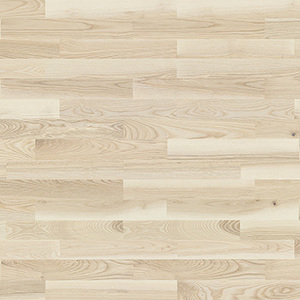 Parquet Ash, Molti Milkshake, 3-strip, stained, matt lacquer