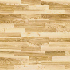 Parquet Ash, Molti Glow, 3-strip, high gloss lacquer