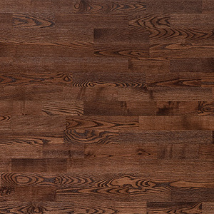 Parquet Ash, Molti Coffee, 3-strip, brushed, stained, semi-glossy lacquer