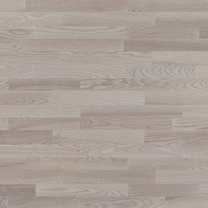 Parquet Ash, Molti Platinium, 3-strip, brushed, stained, matt lacquer