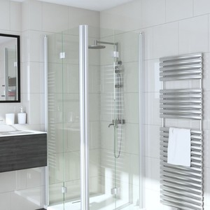 Shower corner with folding doors INFINIA 213+213