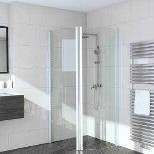 Shower corner (beveled) with doors INFINIA 232X232