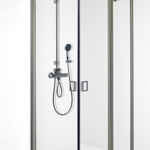 Shower corner with door and half sized door FENIC 312X314