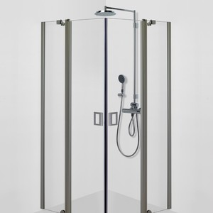 Shower corner (room divider) with two half sized doors FENIC 314X314