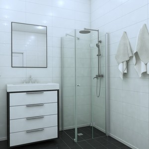 Shower corner (room divider) with a folding door EXPRESS 811X813