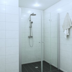 Shower corner (room divider) with a door and a folding door EXPRESS 812X813