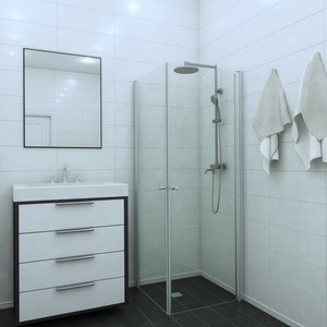 Shower corner (room divider) with two doors EXPRESS 812X812