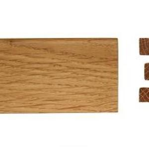 Solid skirting oak 16x100mm profile 1