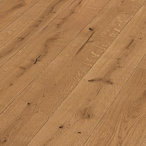 Parquet Golden brown rustic oak, brushed, 1-strip, naturally oiled