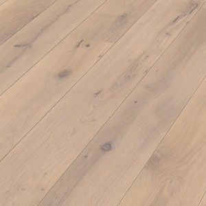 Parquet Off-white rustic oak, brushed, 1-strip, naturally oiled