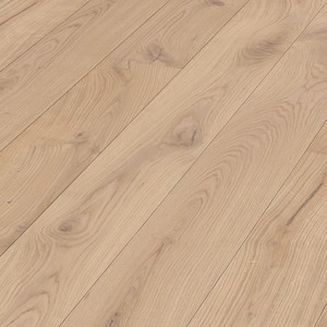Parquet Caramel rustic oak, brushed, 1-strip, matt lacquered