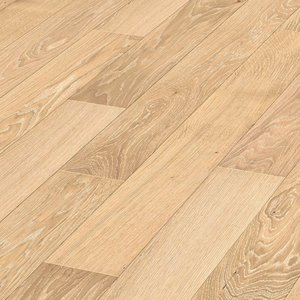 Parquet Cream rustic oak, 1-strip, matt lacquered