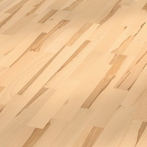 Parquet Beech lively, 3-strip, naturally oiled