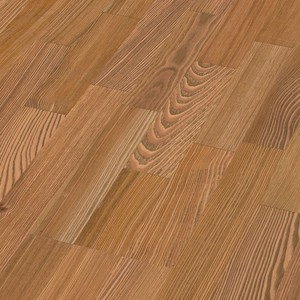 Parquet Golden brown larch lively, 3-strip, brushed, naturally oiled