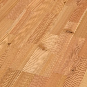 Parquet larch lively, 3-strip, brushed, naturally oiled