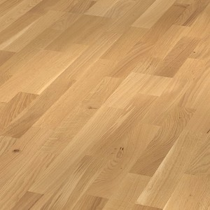 Parquet oak lively, 3-strip, brushed, naturally oiled