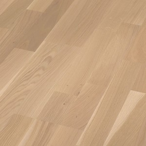 Parquet Off-white oak lively, 3-strip, brushed, naturally oiled