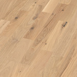 Parquet Pure oak lively, 3-strip, brushed, naturally oiled