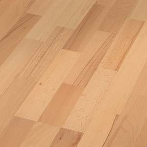 Parquet Steamed beech lively, 3-strip, naturally oiled